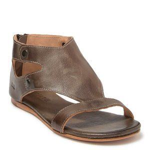 BED STU SOLID BROWN LEATHER SANDALS  SZ 7